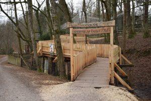 Barrierefreier Holzsteg zum Raubkatzenweg