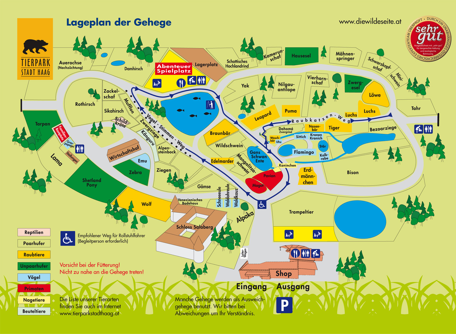 Map Of Enclosures And Infrastructure Of The Zoo Stadt Haag